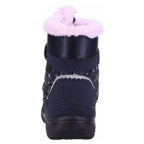 SUPERFIT Śniegowce 'Schuh' niebieska noc / różowy pudrowy