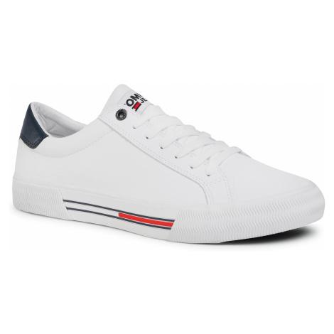 Tenisówki TOMMY JEANS - Essential Leather Sneaker EM0EM00488 White YBR Tommy Hilfiger