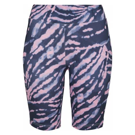 Urban Classics Spodnie ciemnofioletowy / jasnofioletowy / jasnoróżowy