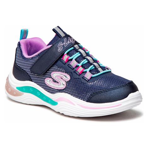 Sneakersy SKECHERS - Power Petals 20202L/NVMT Navy/Multi