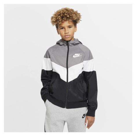 Kurtka dla dużych dzieci Nike Sportswear Windrunner - Szary