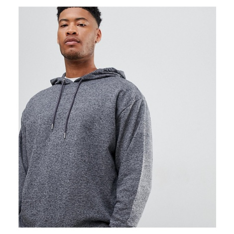 ASOS DESIGN Tall oversized hoodie in charcoal