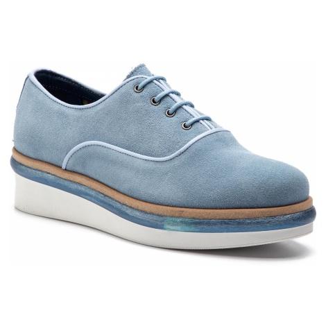 Oxfordy TOMMY HILFIGER - Easy Femmine Lace Up Shoe FW0FW03957 Blue Fog 437