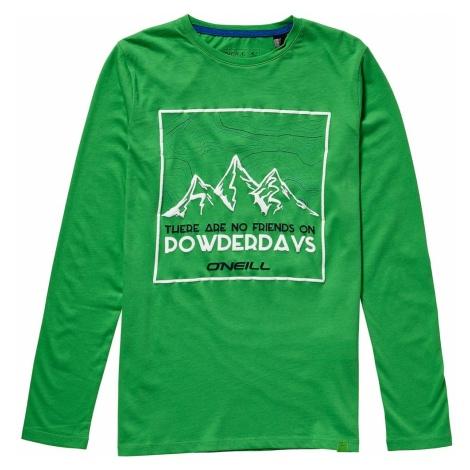 O'NEILL Koszulka 'LB MOUNTAIN SURF L/SLV T-SHIRT' zielony / biały