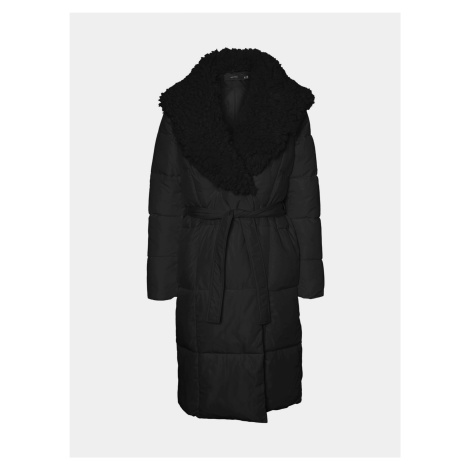 Vero Moda czarny zimowa płaszcz