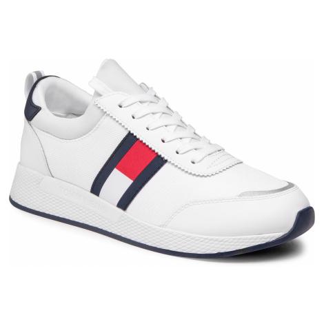 Sneakersy TOMMY JEANS - Flexi Lycra Tommy Jeans Runner EM0EM00632 White YBR Tommy Hilfiger