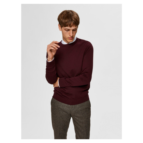 Selected Homme wiśniow basic sweter męski Berg