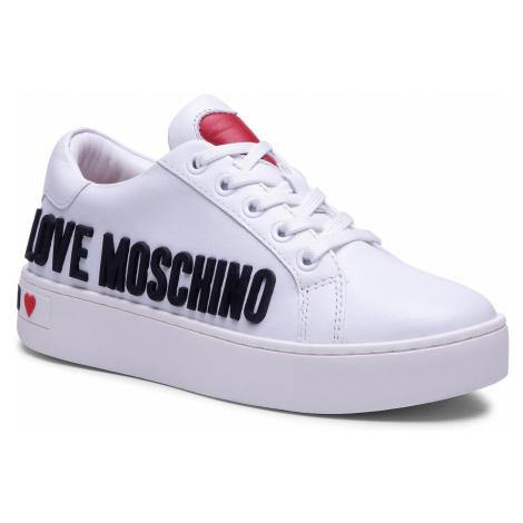 Sneakersy LOVE MOSCHINO - JA15113G1CIA0100 Bianco