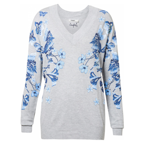 Desigual Louth Sweter Szary