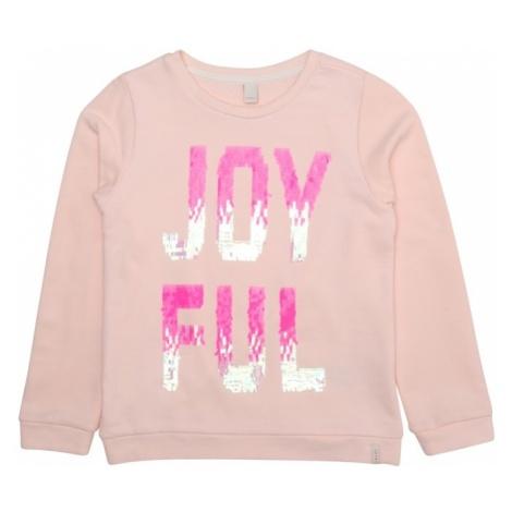 ESPRIT Bluzka sportowa 'SWEAT SHIRT' różowy / różowy pudrowy / biały