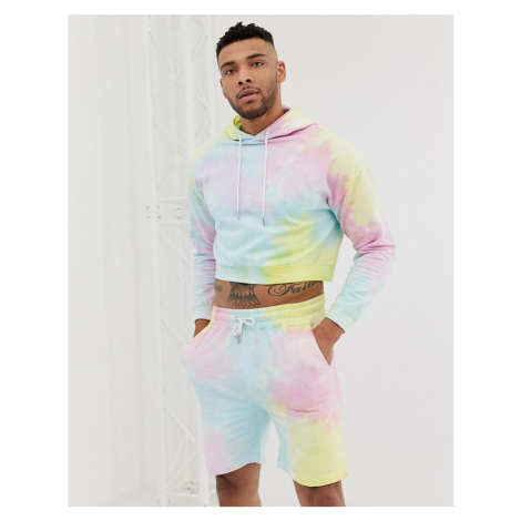 Another Influence tie dye cropped sweat co-ord