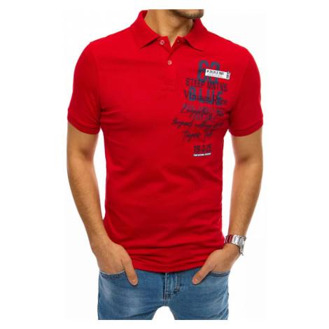 Męska czerwona koszulka polo Dstreet PX0451