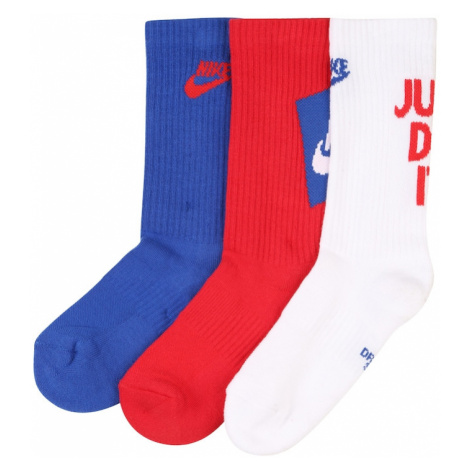 NIKE Skarpetki sportowe niebieski / czerwony / biały