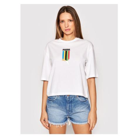 Puma T-Shirt TFS Graphic 597747 Biały Regular Fit