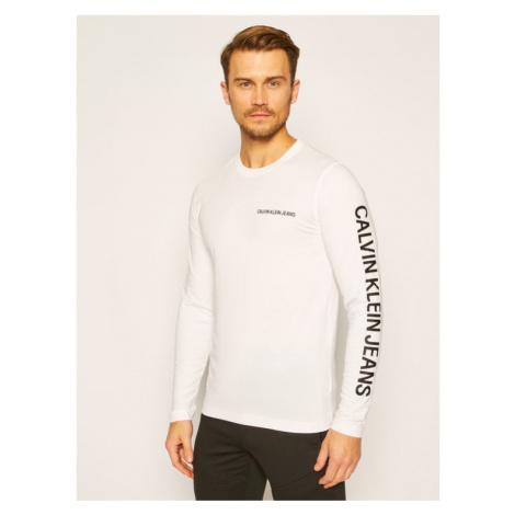 Calvin Klein Jeans T-Shirt J30J316884 Biały Regular Fit