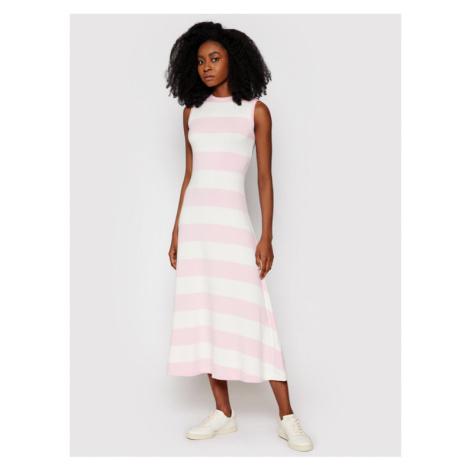 Polo Ralph Lauren Sukienka codzienna Ssl 211838121001 Różowy Regular Fit