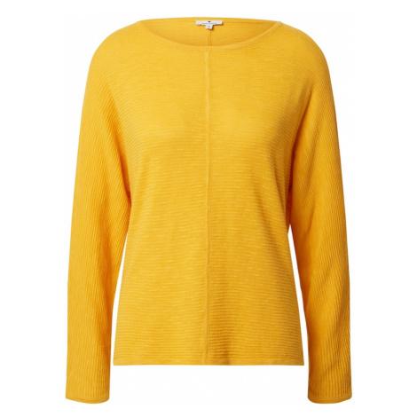 TOM TAILOR Sweter złoty żółty