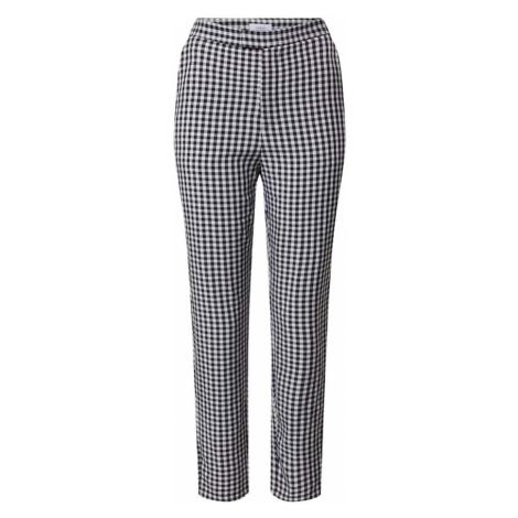 NA-KD Spodnie czarny / biały