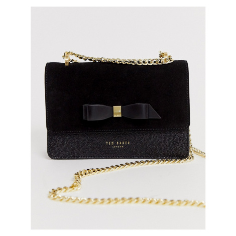 Ted Baker omaria bow detail suede trim mini cross body bag