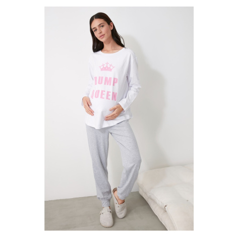 Trendyol Printed Knitted Pregnant Pajama Set
