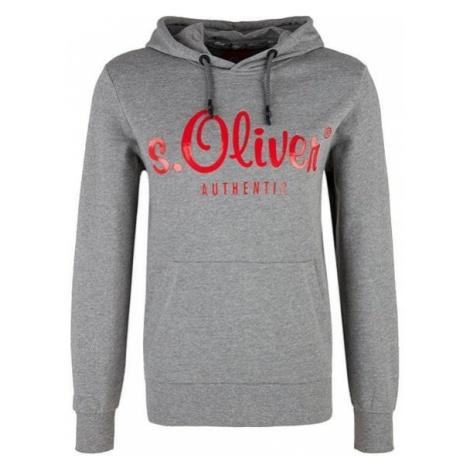 s.Oliver Męska bluza z kapturem 13.901.41.3496.9222 Medium Grey Melange