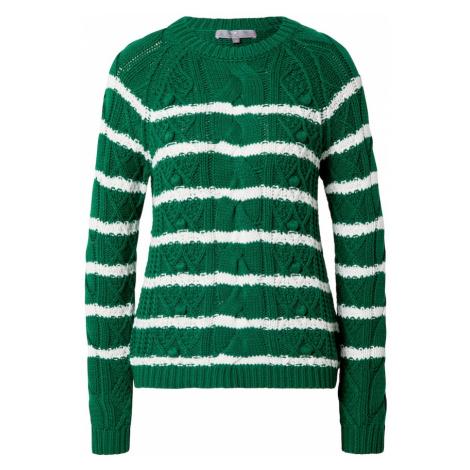 LIEBLINGSSTÜCK Sweter 'Sandy' zielony / biały