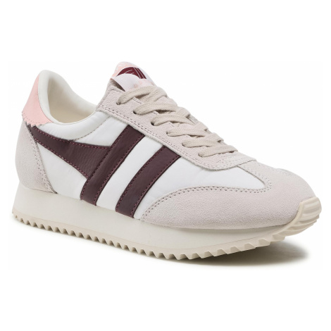 Sneakersy GOLA - Boston 78 CLB108 Off White/Burgundy/Pearl Pink