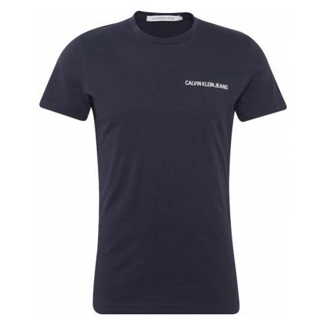 Calvin Klein Jeans Koszulka 'SMALL INSTIT LOGO CHEST TEE' niebieska noc