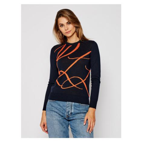 Lauren Ralph Lauren Sweter Ls Cn 200808256003 Granatowy Regular Fit