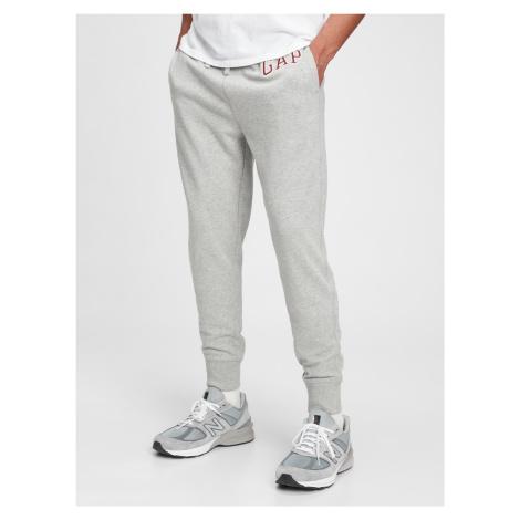 GAP szary męskie spodnie dresowe Jogger z logiem