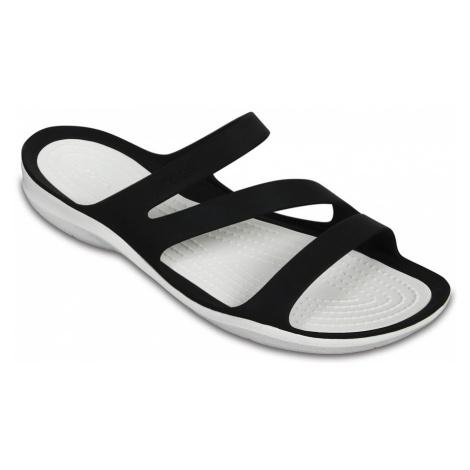 Klapki Crocs Swiftwater Sandal 203998 BLACK/WHITE