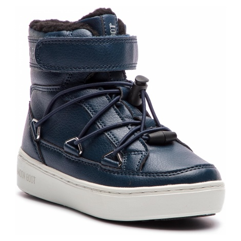 Śniegowce MOON BOOT - Pulse Jr Boy Paris 34060900002 Ocean Blue
