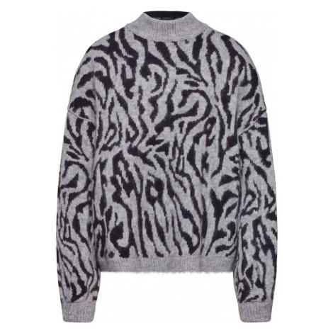 DRYKORN Sweter 'LARIDA' szary / czarny