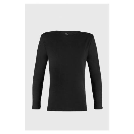 Czarna koszulka z długimi rękawami Cotton Nature Ysabel Mora