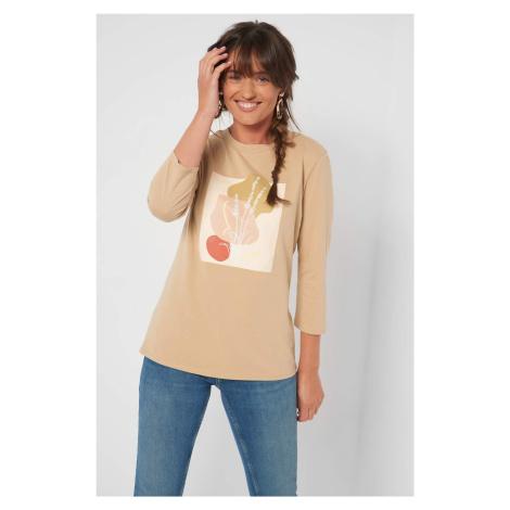 Taliowana koszulka z nadrukiem Orsay