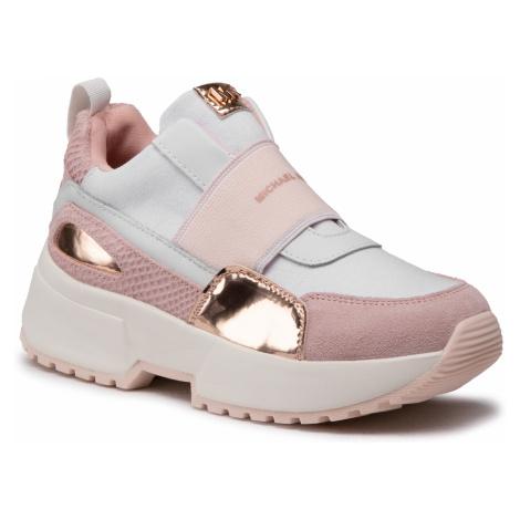 Sneakersy MICHAEL MICHAEL KORS - Cosmo Rouen ZCOSMOROUE White/Soft Pink
