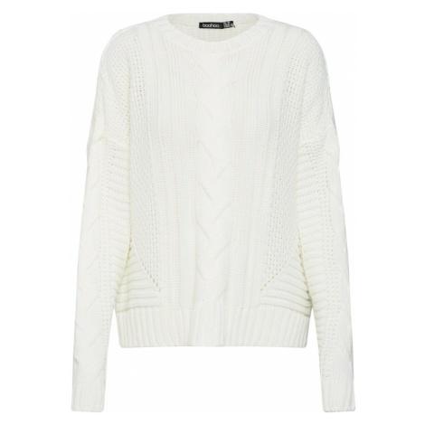 Boohoo Sweter perłowo biały