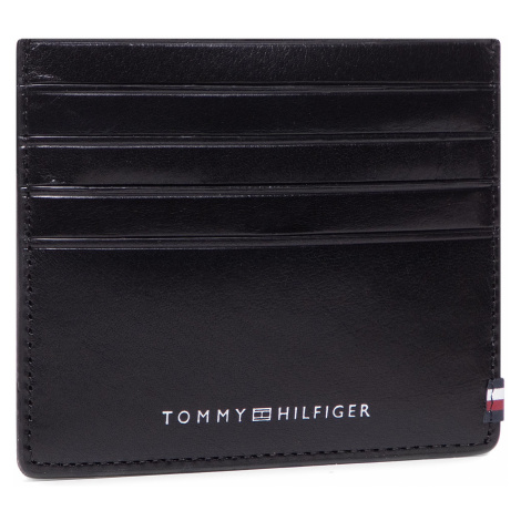 Etui na karty kredytowe TOMMY HILFIGER - Polished Leather Slide Cc Holder AM0AM06310 BDS
