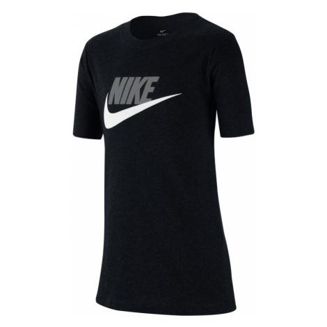 Bawełniany T-shirt dla dużych dzieci Nike Sportswear - Czerń