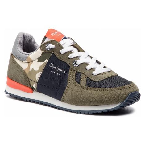 Sneakersy PEPE JEANS - Sydney Camu Summer PBS30392 Khaki Green 765