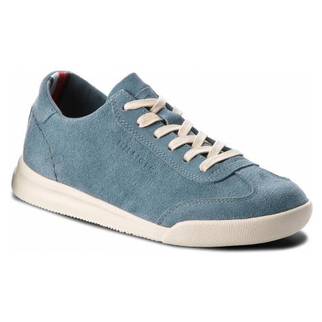 Sneakersy TOMMY HILFIGER - Casual Suede Low Cut Sneaker FM0FM01423 Jeans 013