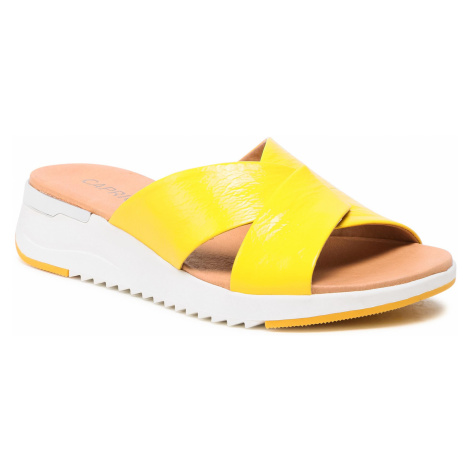 Klapki CAPRICE - 9-27200-26 Yellow Naplak 613