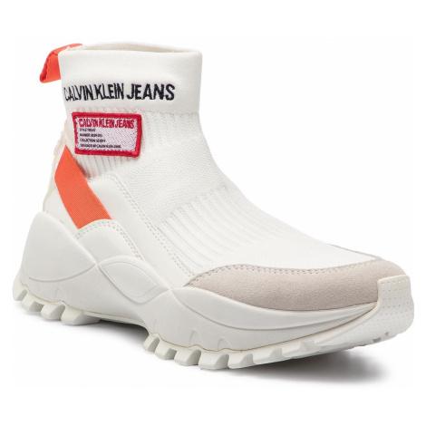 Sneakersy CALVIN KLEIN JEANS - Tysha R7812 Bright White/Orangea