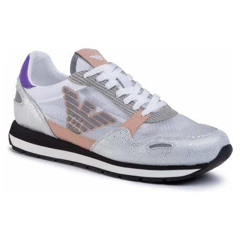 Sneakersy EMPORIO ARMANI - X3X058 XM263 R728 White/White/Carne