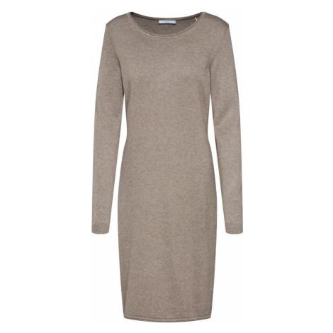 EDC BY ESPRIT Sukienka z dzianiny 'OCS dress' ciemnoszary / mieszane kolory