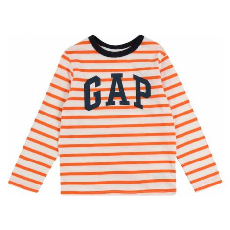 GAP Koszulka pomarańczowy / kremowy
