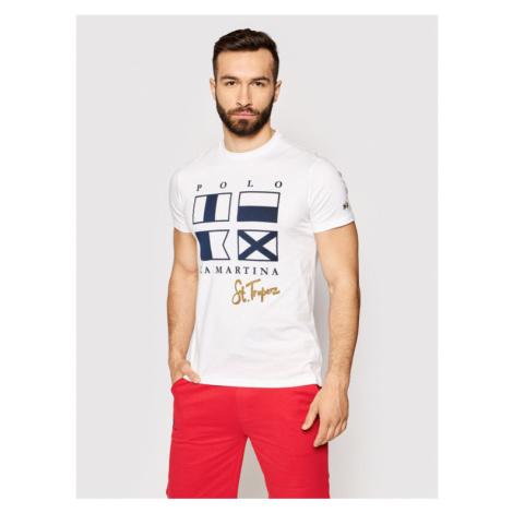 La Martina T-Shirt RMR313 JS206 Biały Regular Fit