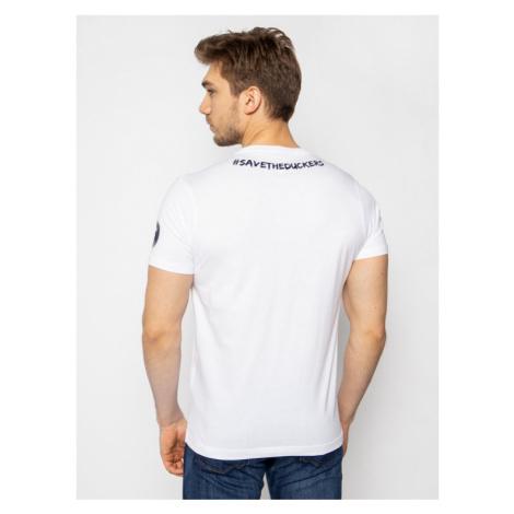 Save The Duck T-Shirt DT401M JESYX Biały Regular Fit