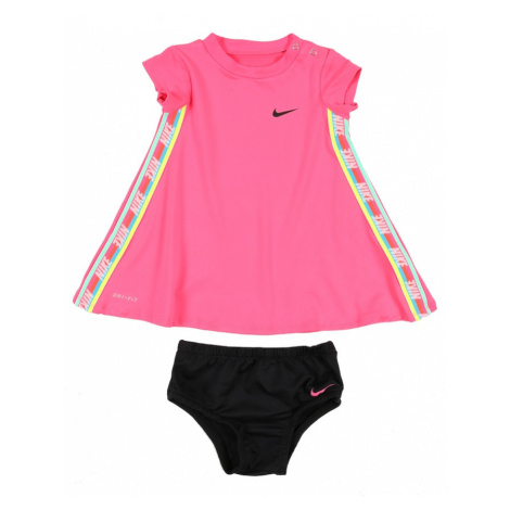 Nike Sportswear Sukienka 'RAINBOW TAPING DRESS' różowy