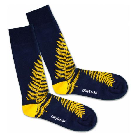 DillySocks Skarpety 'Blue Fern' niebieski / żółty